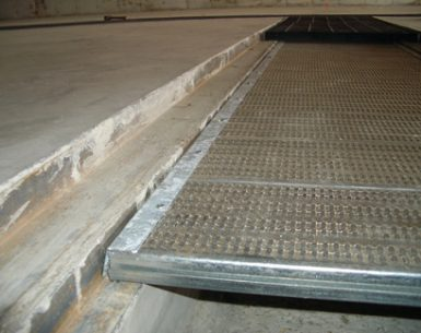 tunnel floor bar grating